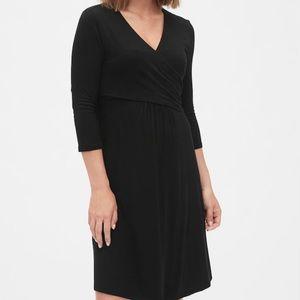Gap Maternity /  Nursing Wrap Dress- black